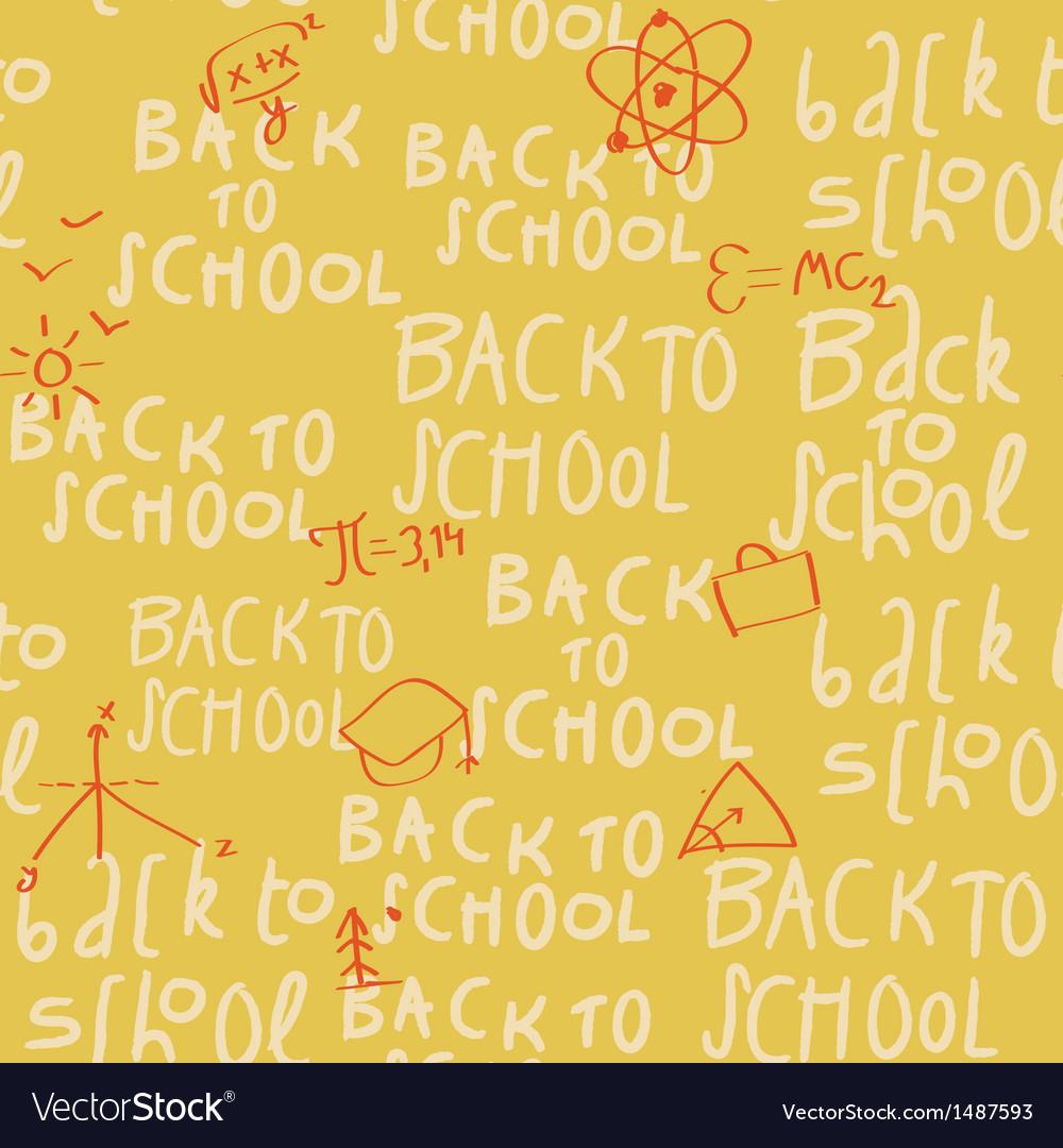 Seamless yellow school pattern vector | Price: 1 Credit (USD $1)