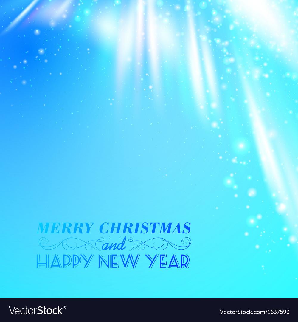Snow on blue luminous rays vector   Price: 1 Credit (USD $1)