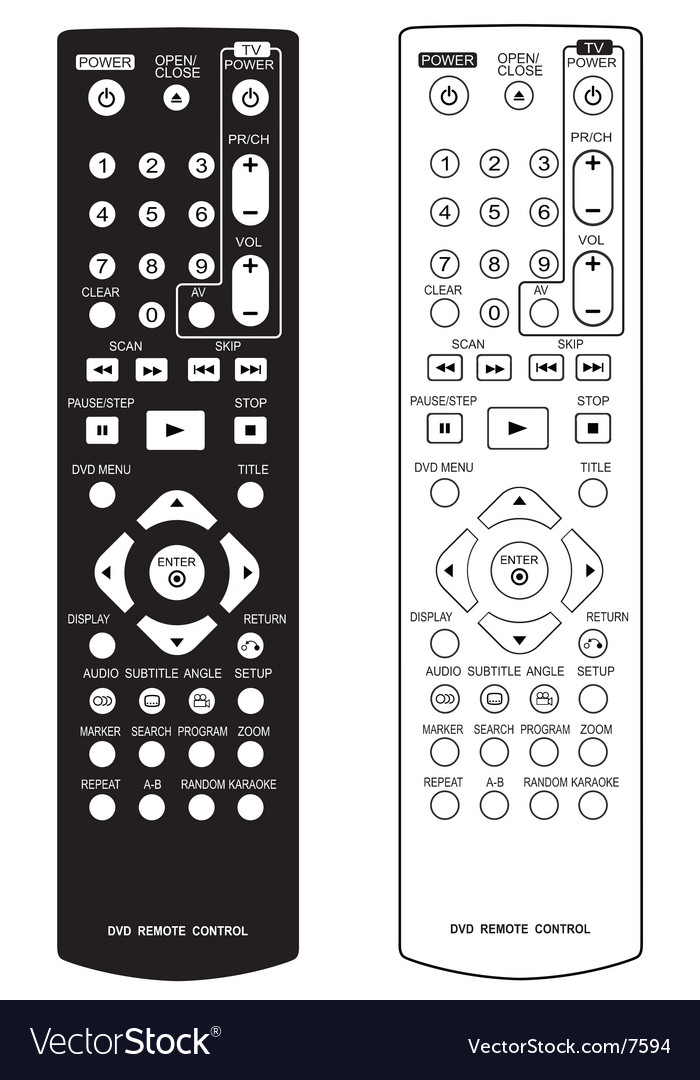Dvd remote control vector | Price: 1 Credit (USD $1)