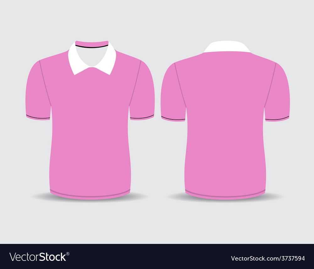 Pink polo t shirt vector | Price: 1 Credit (USD $1)