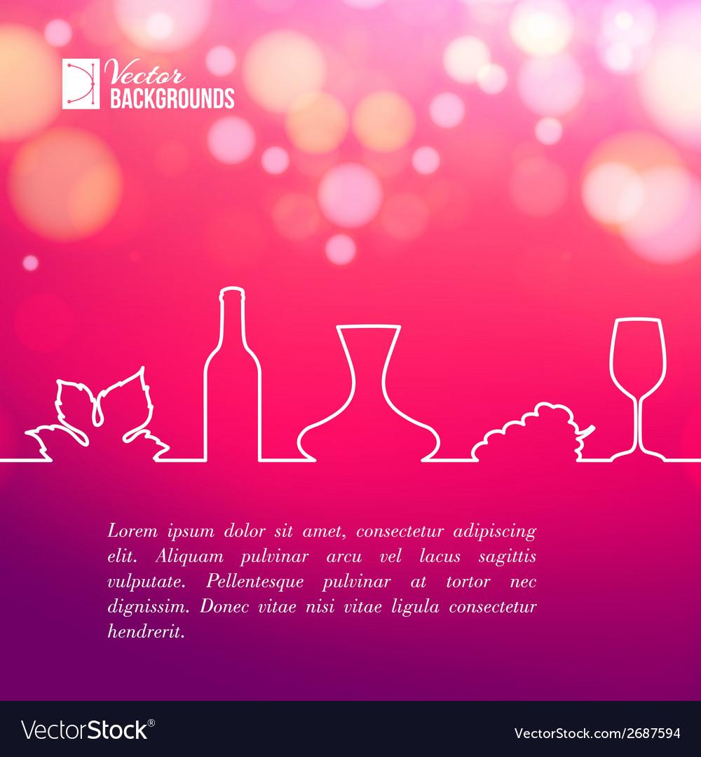 Style line of vine design vector | Price: 1 Credit (USD $1)