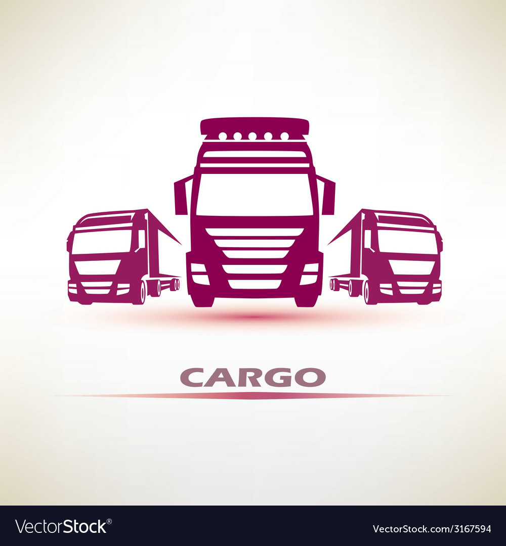 Truck outlined symbol vector | Price: 1 Credit (USD $1)