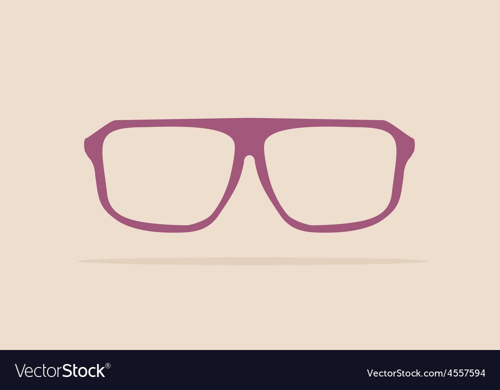 Violet nerd glasses on pastel background vector | Price: 1 Credit (USD $1)