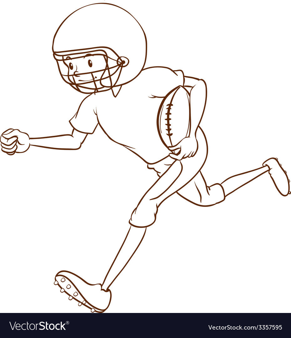 An american football athlete vector | Price: 1 Credit (USD $1)