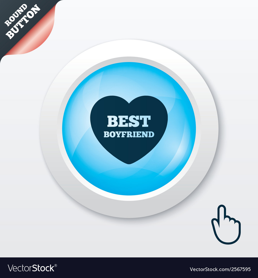 Best boyfriend sign icon heart love symbol vector | Price: 1 Credit (USD $1)