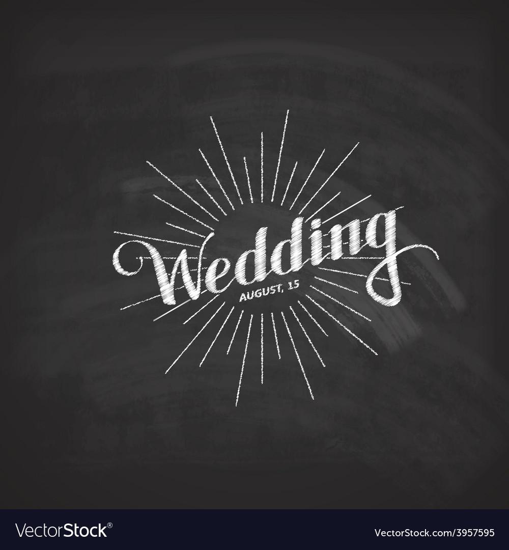 Chalk of handwritten wedding label vector | Price: 1 Credit (USD $1)