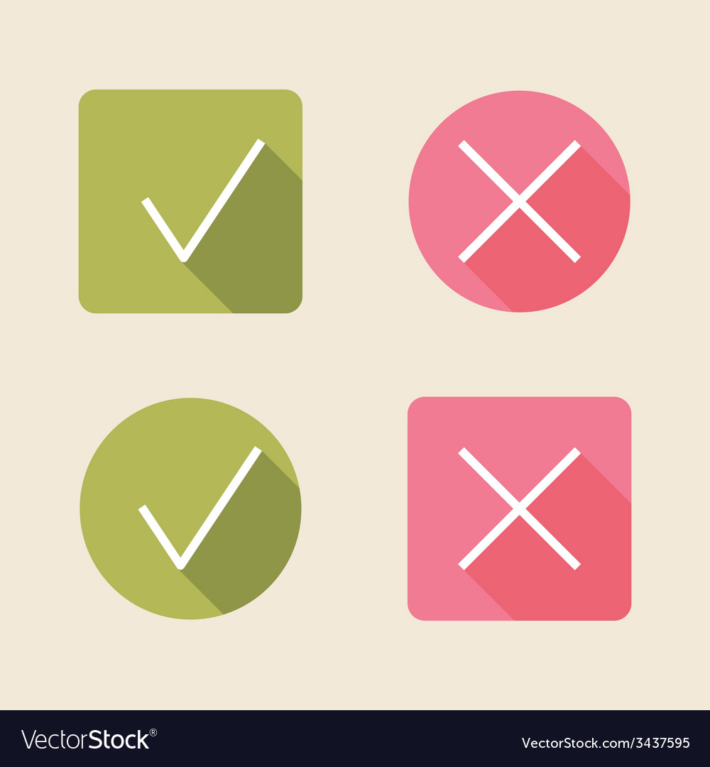Check mark icons flat icons for web and mobile vector | Price: 1 Credit (USD $1)