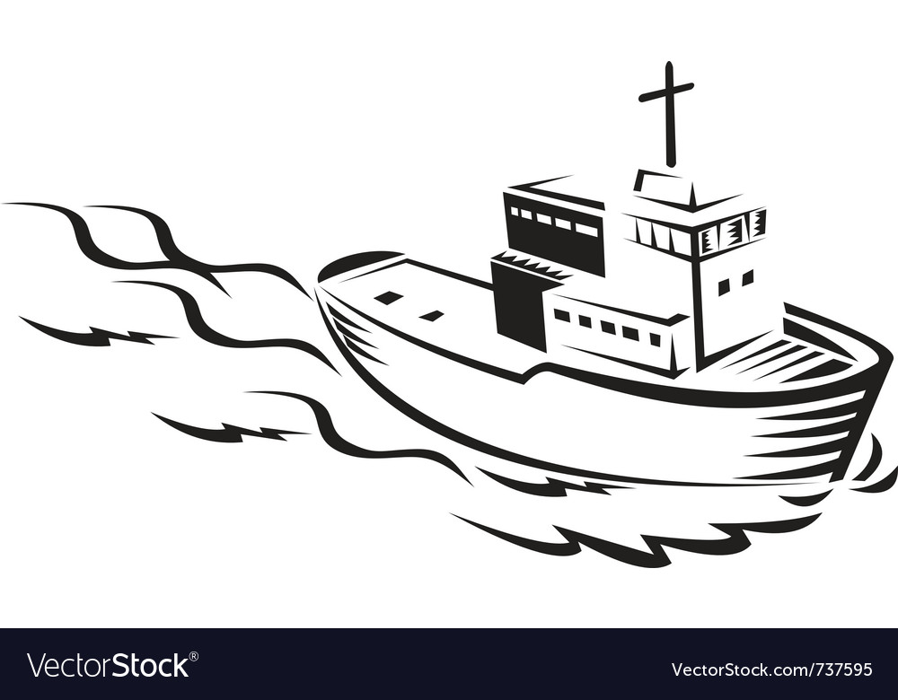 Commercial fishing boat vector | Price: 1 Credit (USD $1)