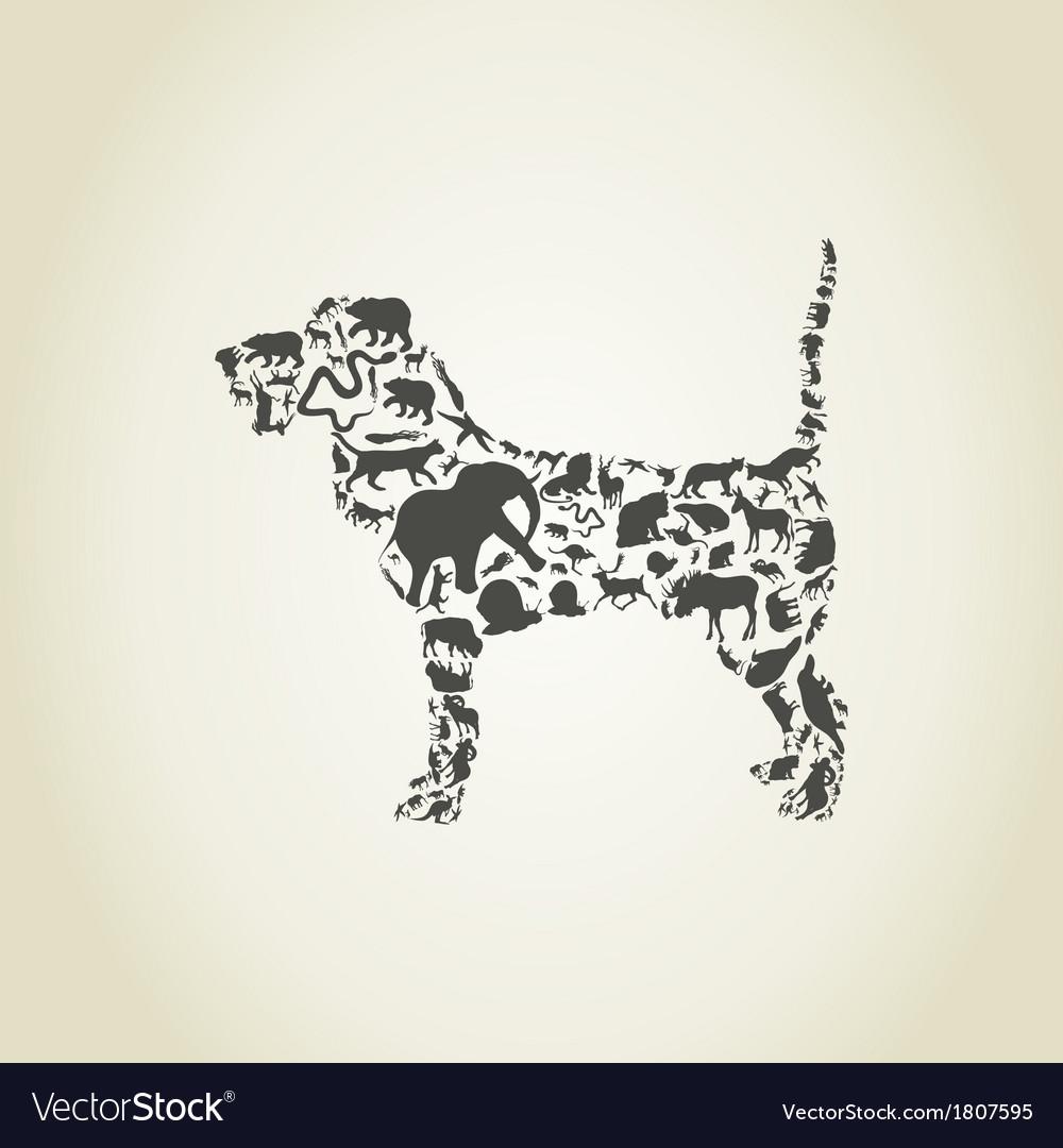 Dog an animal vector | Price: 1 Credit (USD $1)