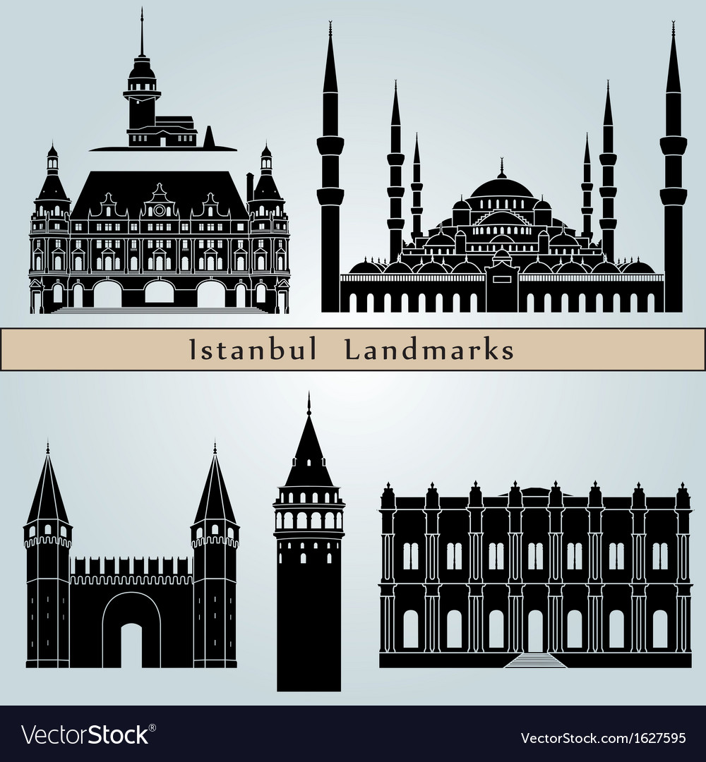 Istanbul landmarks and monuments vector | Price: 1 Credit (USD $1)