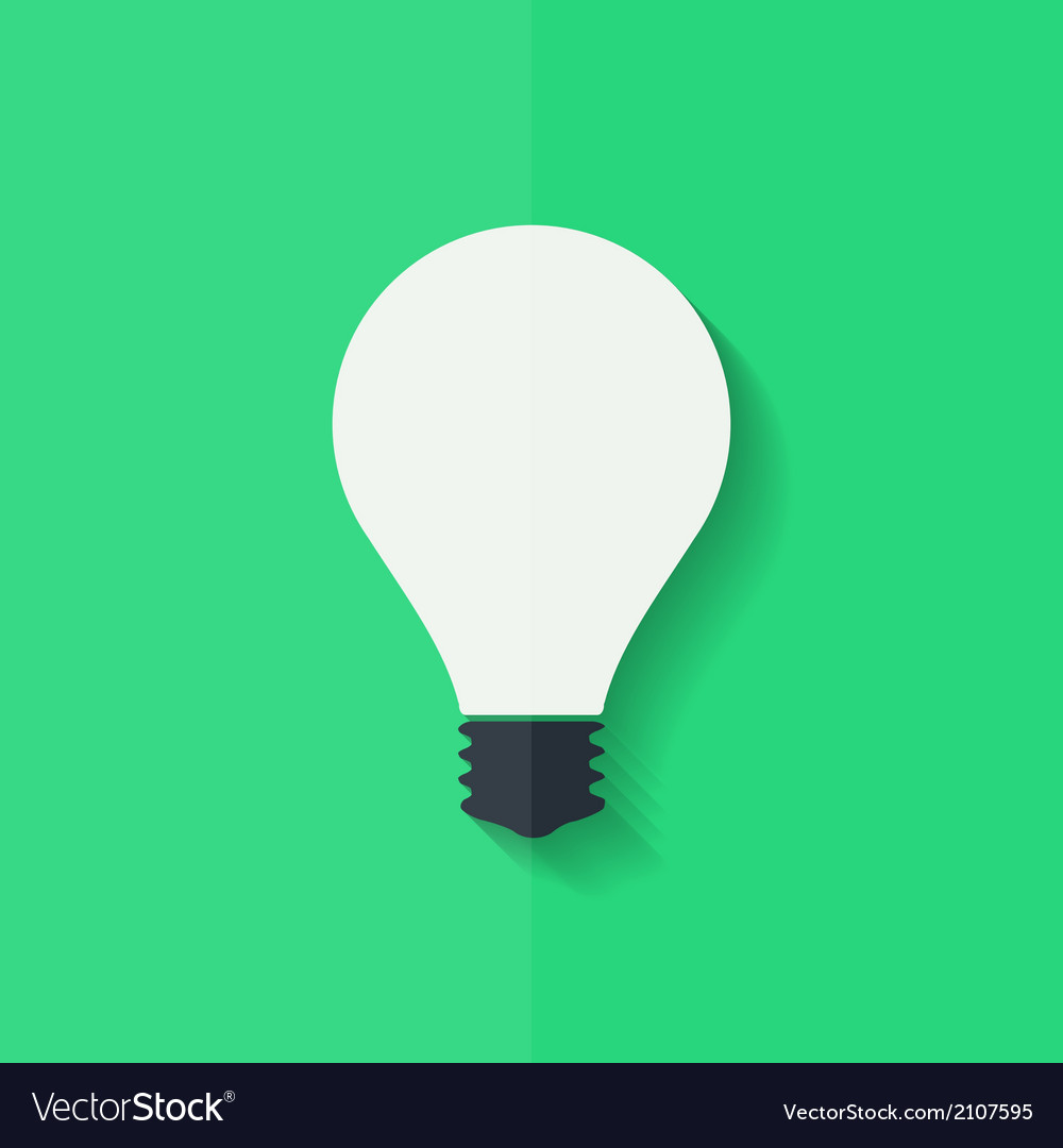 Light bulb icon flat design vector | Price: 1 Credit (USD $1)
