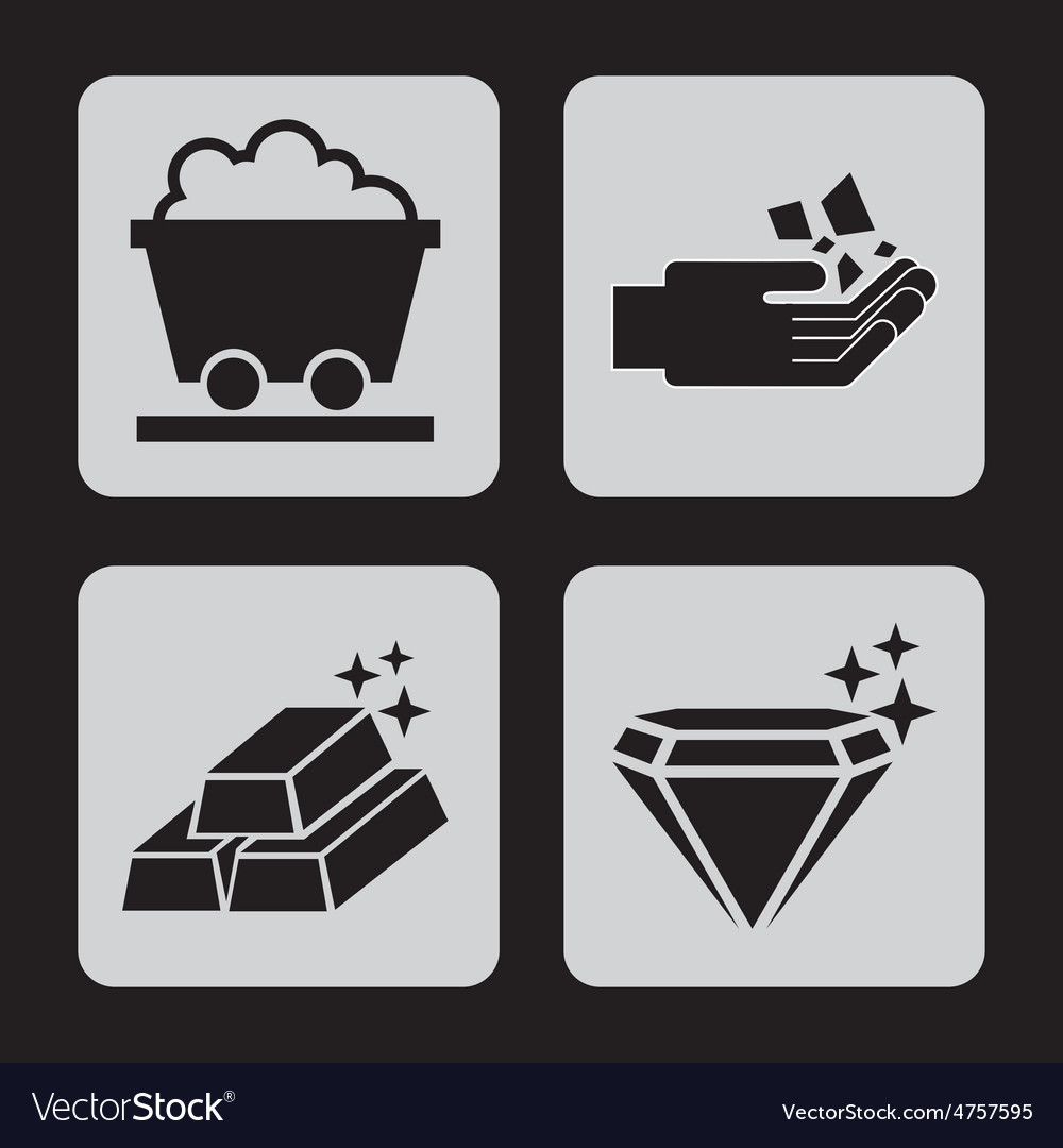 Mining icons vector | Price: 1 Credit (USD $1)