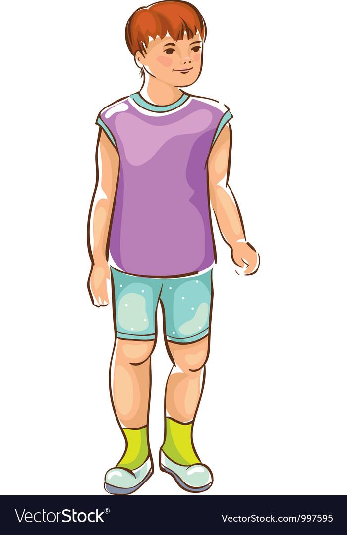 Sketch of boy vector | Price: 3 Credit (USD $3)