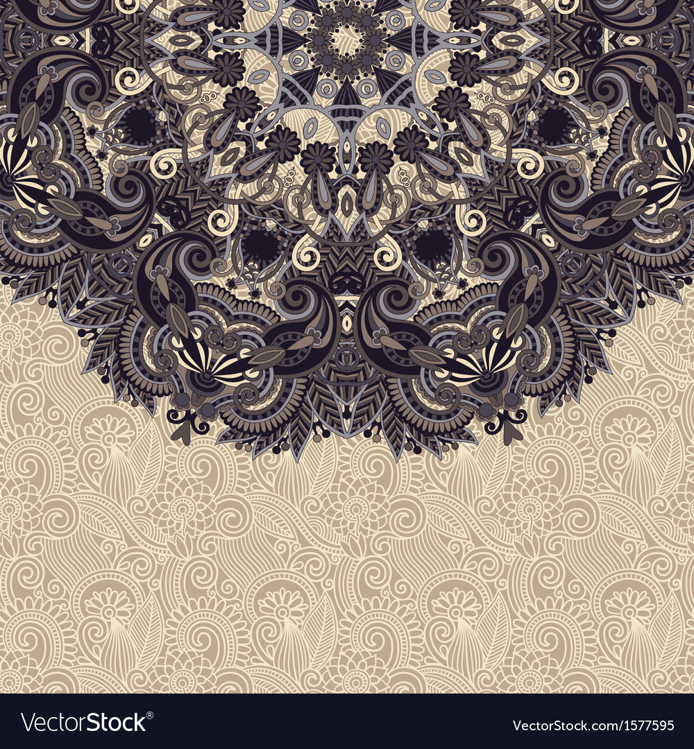 Template with circle floral background vector | Price: 1 Credit (USD $1)