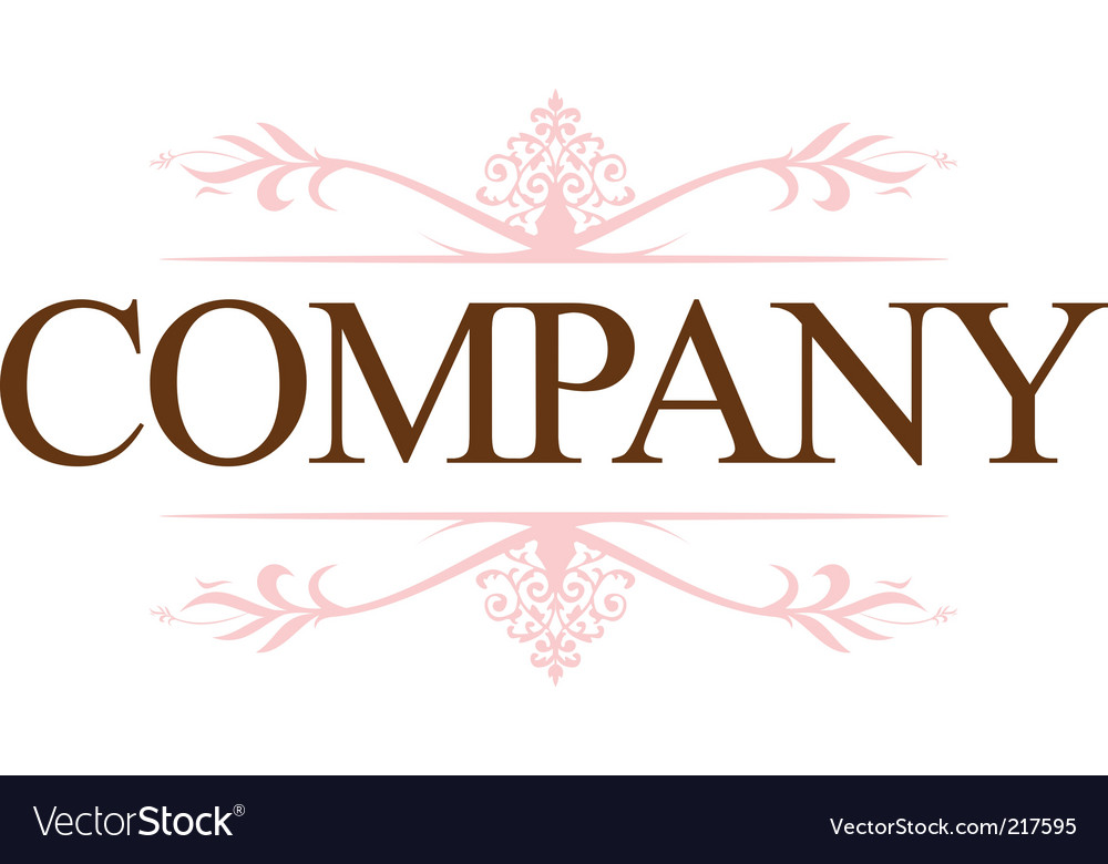 Vintage company logo vector | Price: 1 Credit (USD $1)