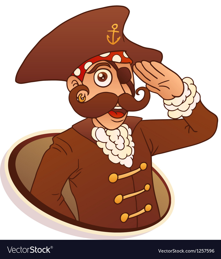 Captain pirate vector | Price: 3 Credit (USD $3)