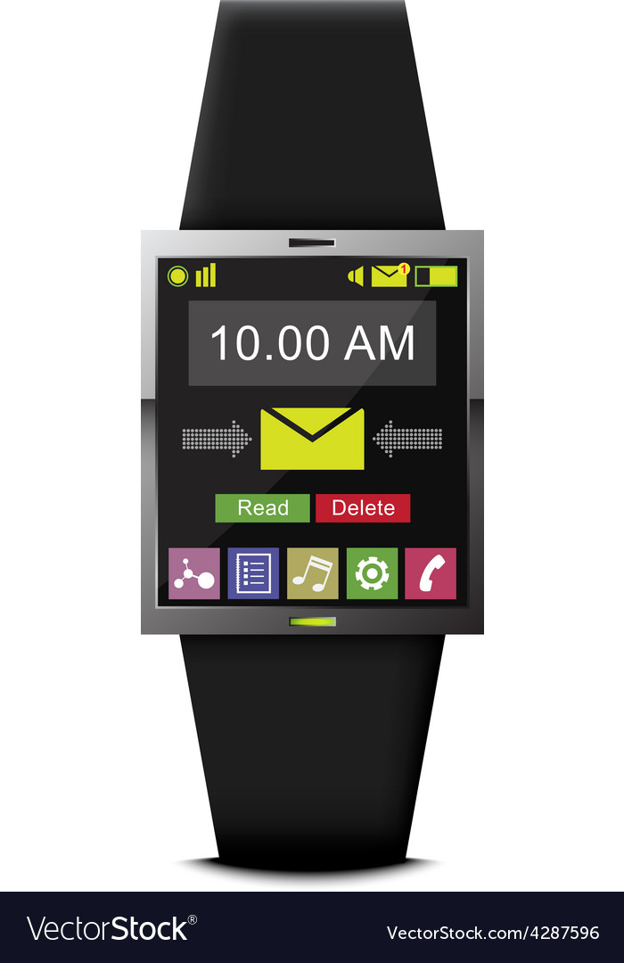 Communication with smart watch technology vector | Price: 1 Credit (USD $1)