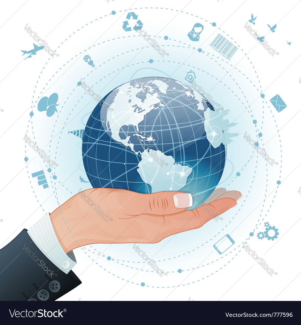 Concept global business vector | Price: 3 Credit (USD $3)