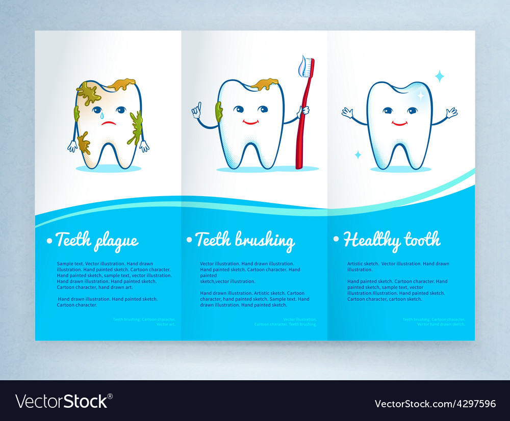 Dental care leaflet design vector | Price: 1 Credit (USD $1)