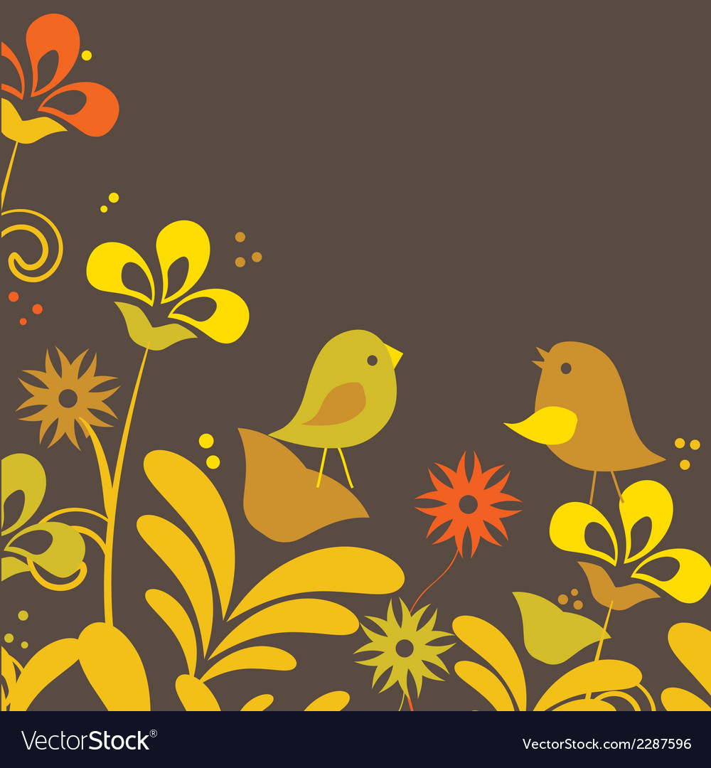 Drawing of a cute cartoon birds standing vector | Price: 1 Credit (USD $1)