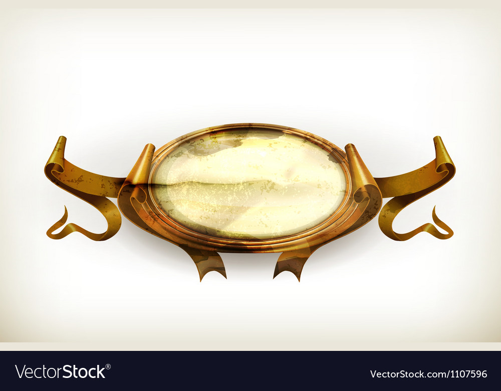 Gold vintage frame old-style vector | Price: 3 Credit (USD $3)