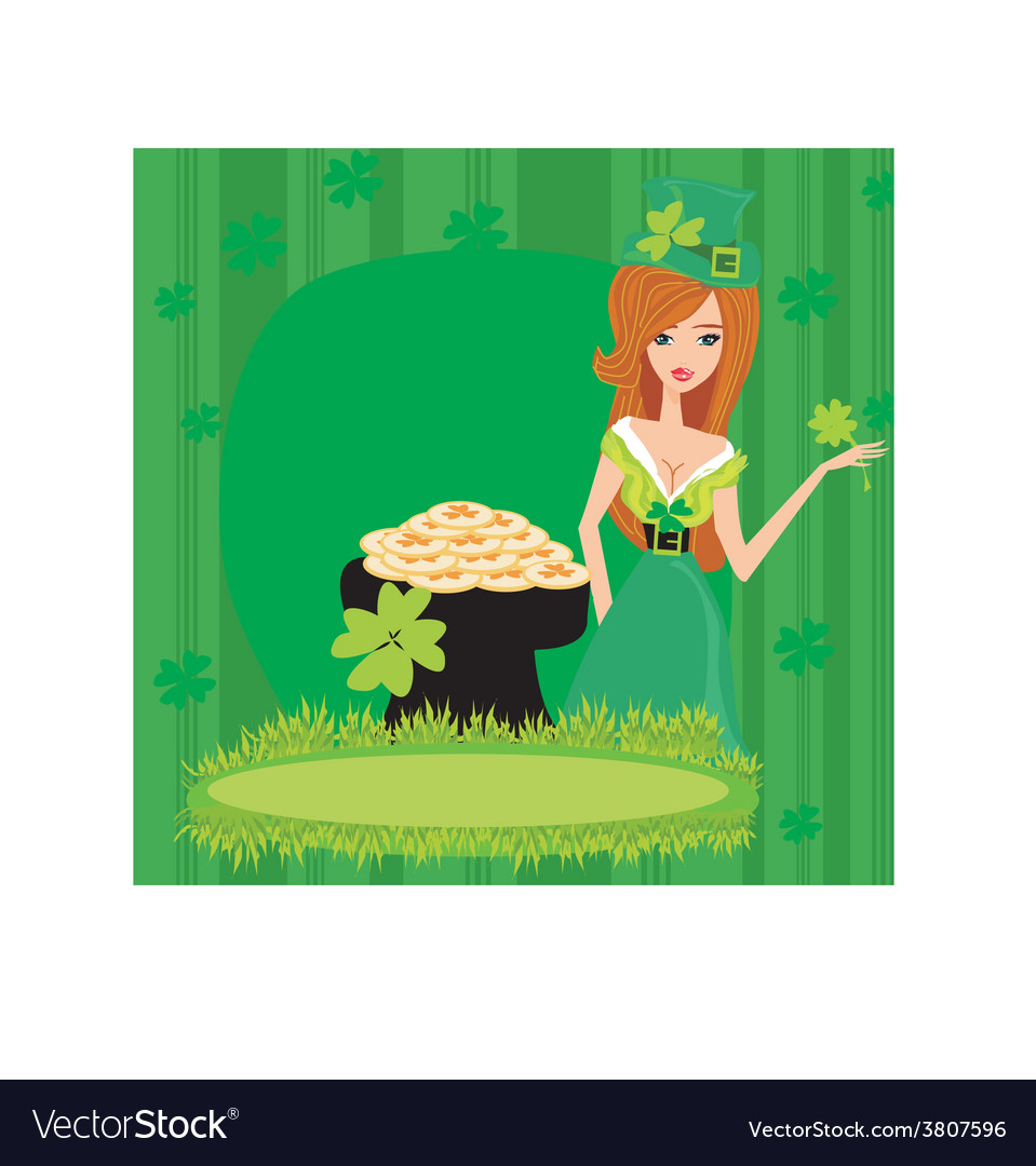 Greeting card for the holiday st patricks day vector | Price: 1 Credit (USD $1)