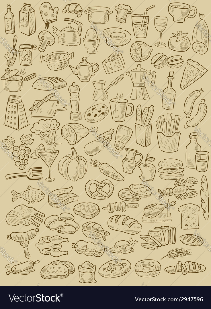 Hand drawn food vector | Price: 1 Credit (USD $1)