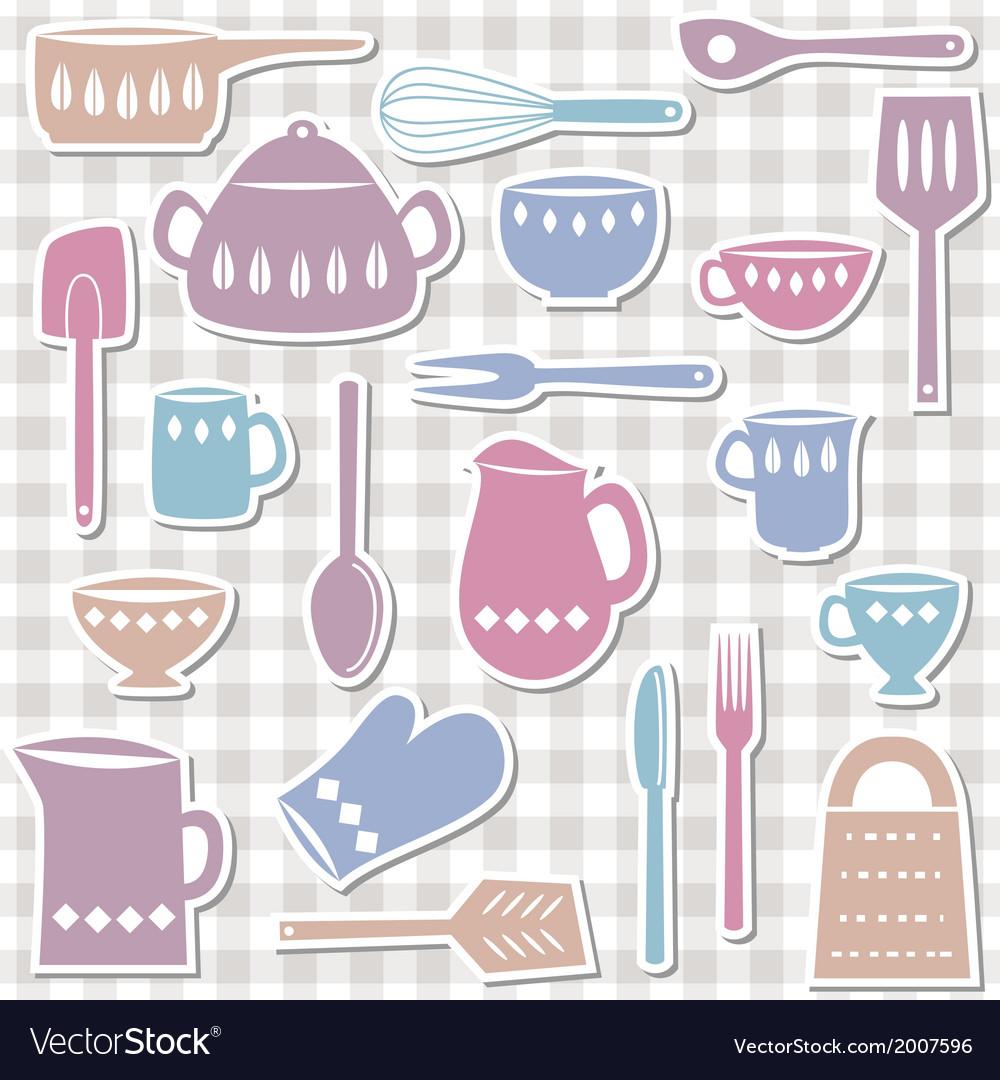 Kitchen utensils sticks vector | Price: 1 Credit (USD $1)