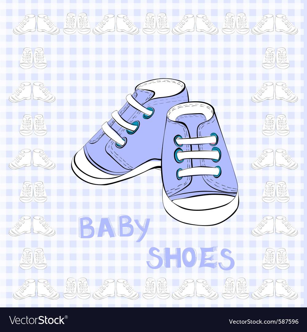 Of a pair blue shoes vector | Price: 1 Credit (USD $1)