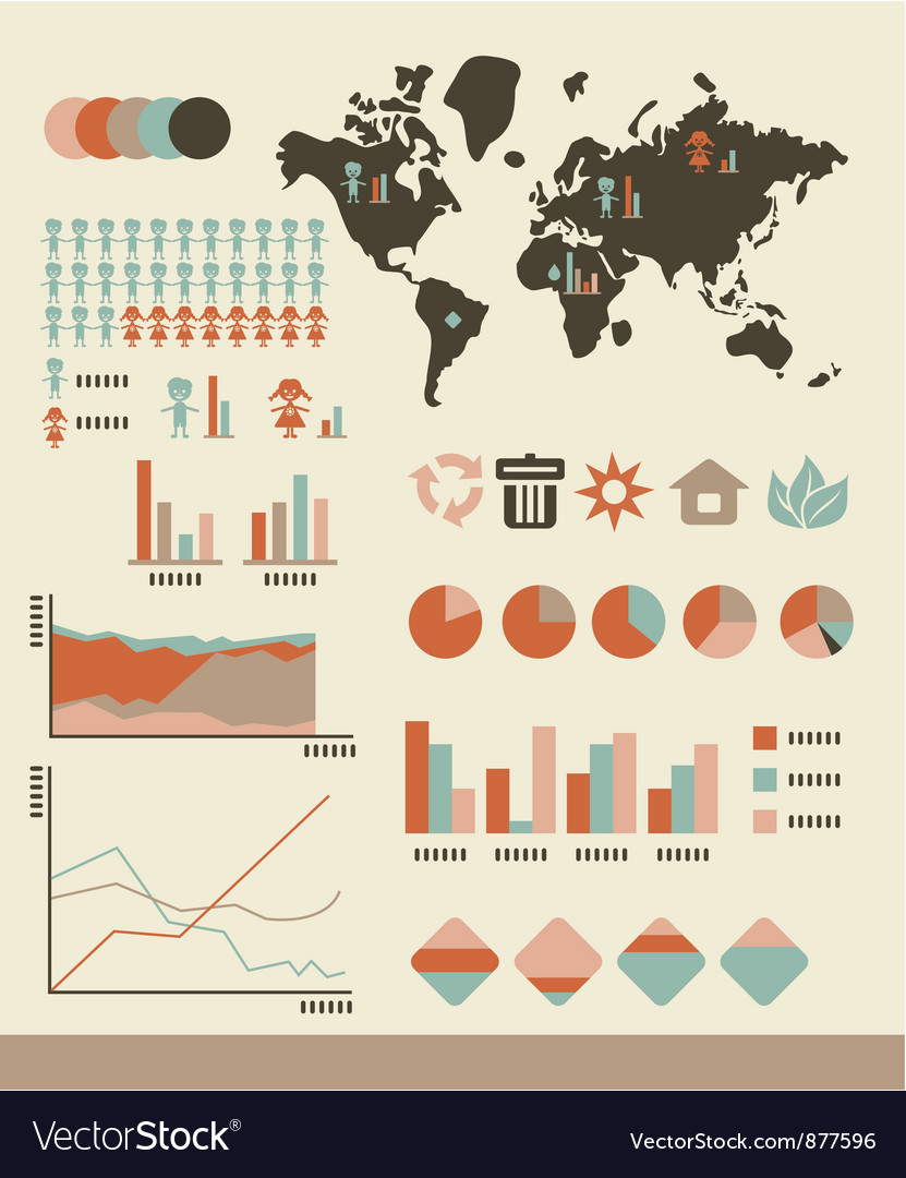 Population infographic vector