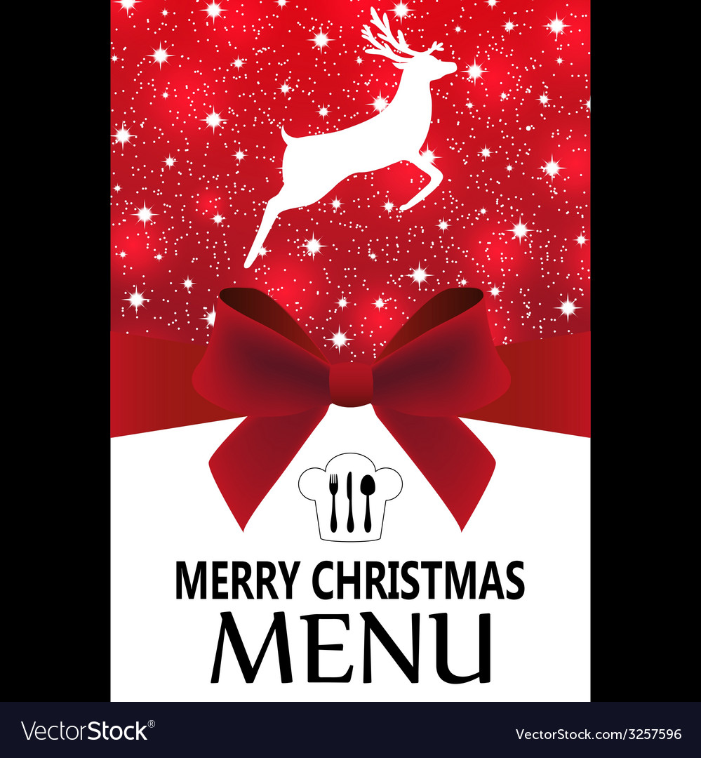 Special christmas menu vector | Price: 1 Credit (USD $1)
