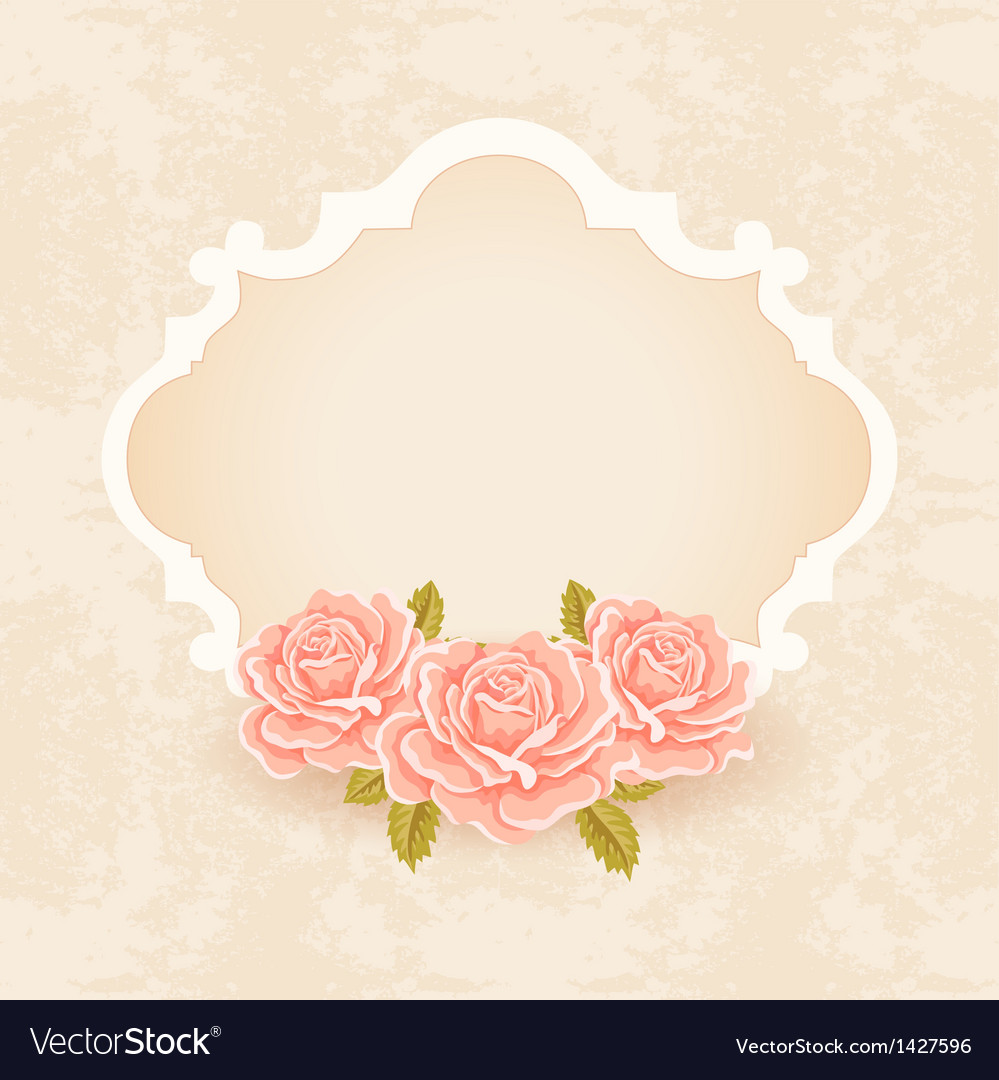 Vintage floral background greeting card template vector | Price: 1 Credit (USD $1)