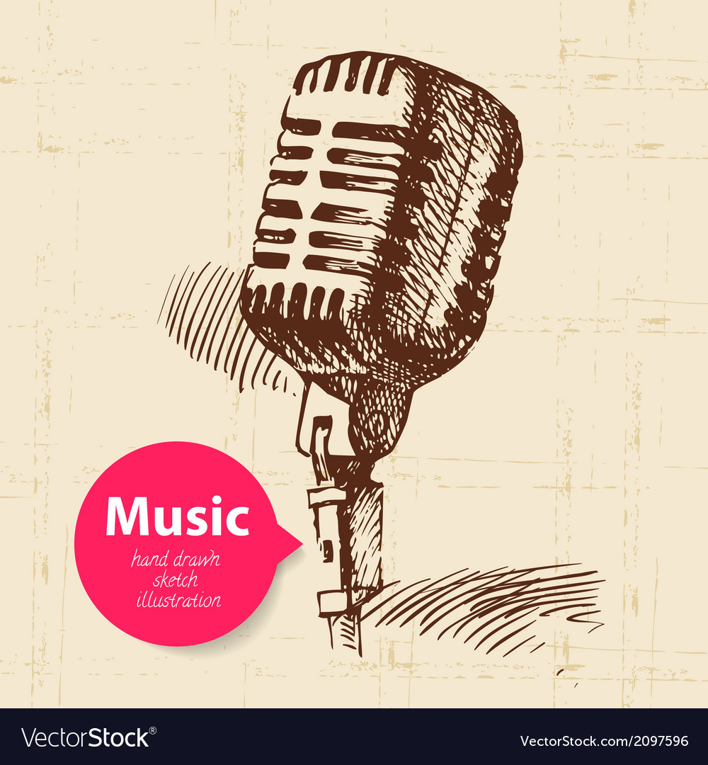 Vintage music background vector | Price: 1 Credit (USD $1)