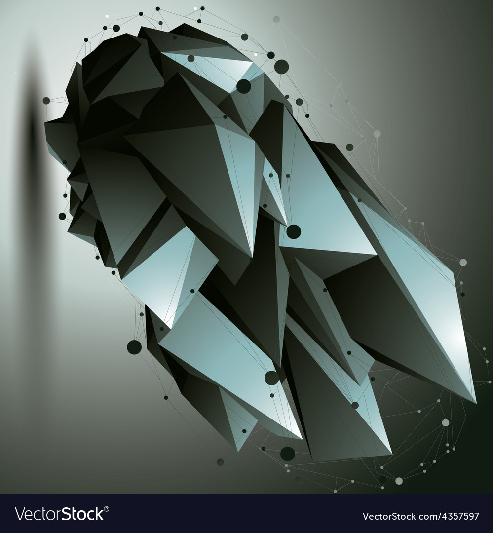 3d mesh modern stylish construction origami facet vector | Price: 1 Credit (USD $1)