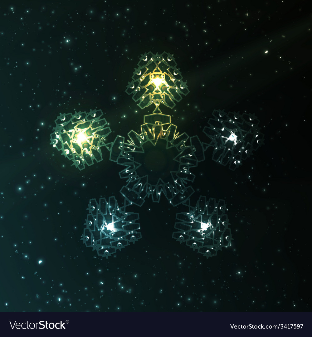 Abstract fantasy snowflake vector | Price: 1 Credit (USD $1)