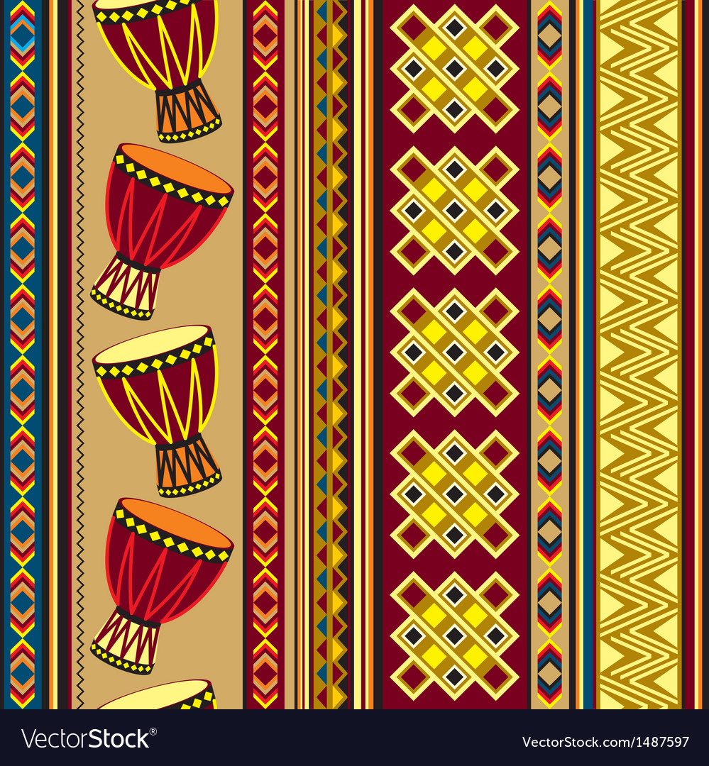 African drum beckground vector | Price: 1 Credit (USD $1)