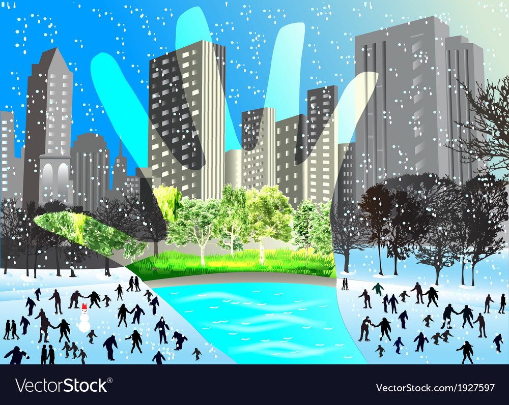 Contrast winter and summer vector | Price: 1 Credit (USD $1)
