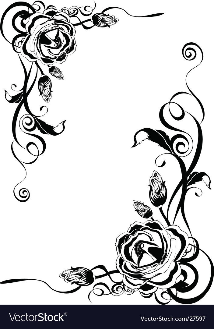 Decorative roses vector