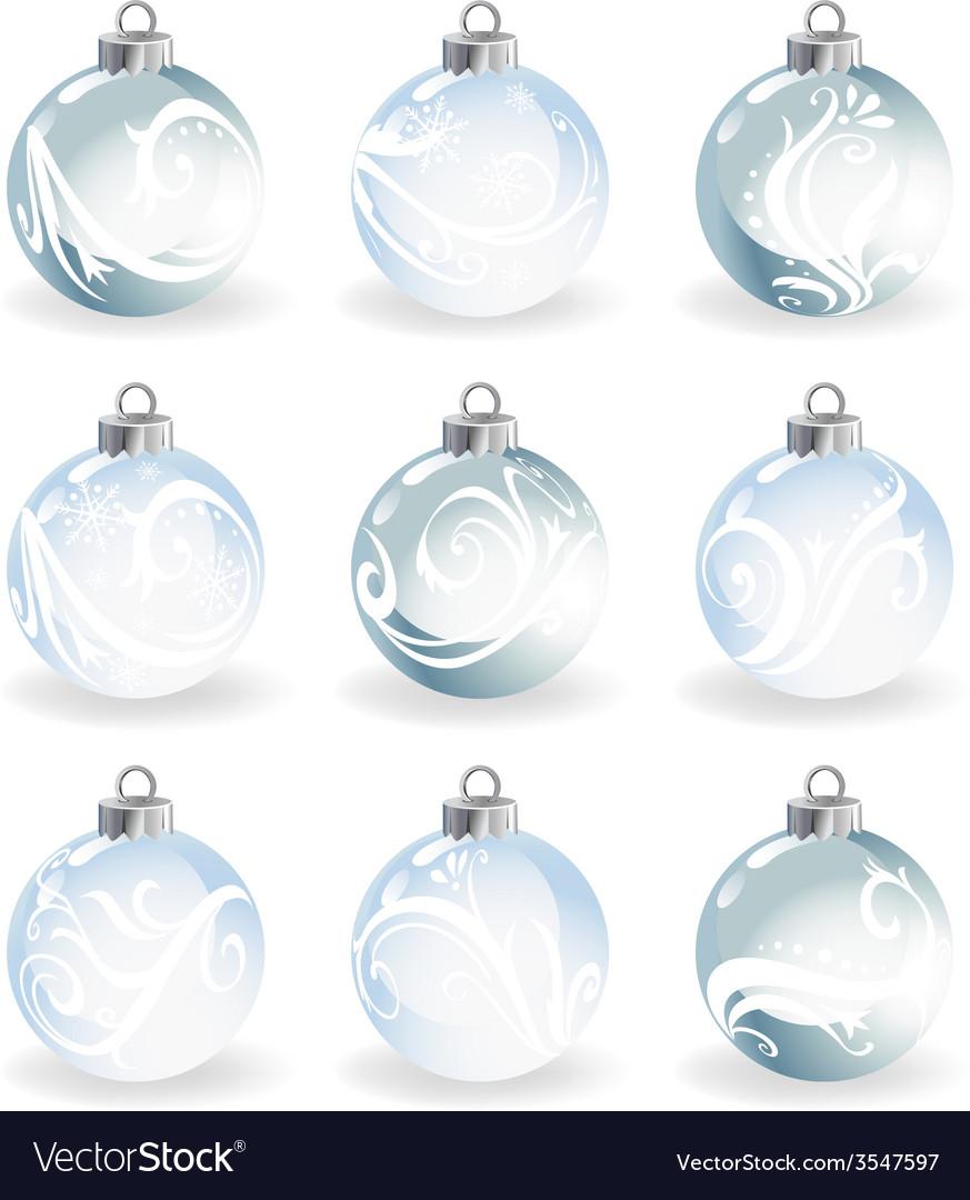 Glass christmas balls vector | Price: 1 Credit (USD $1)