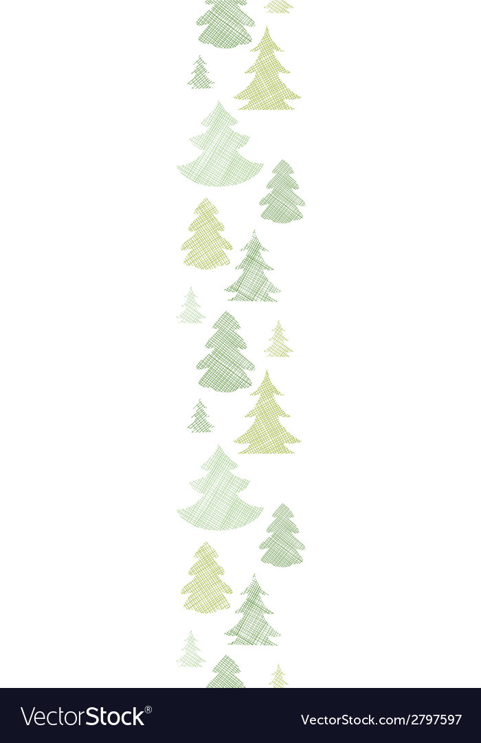 Green christmas trees silhouettes textile vertical vector | Price: 1 Credit (USD $1)