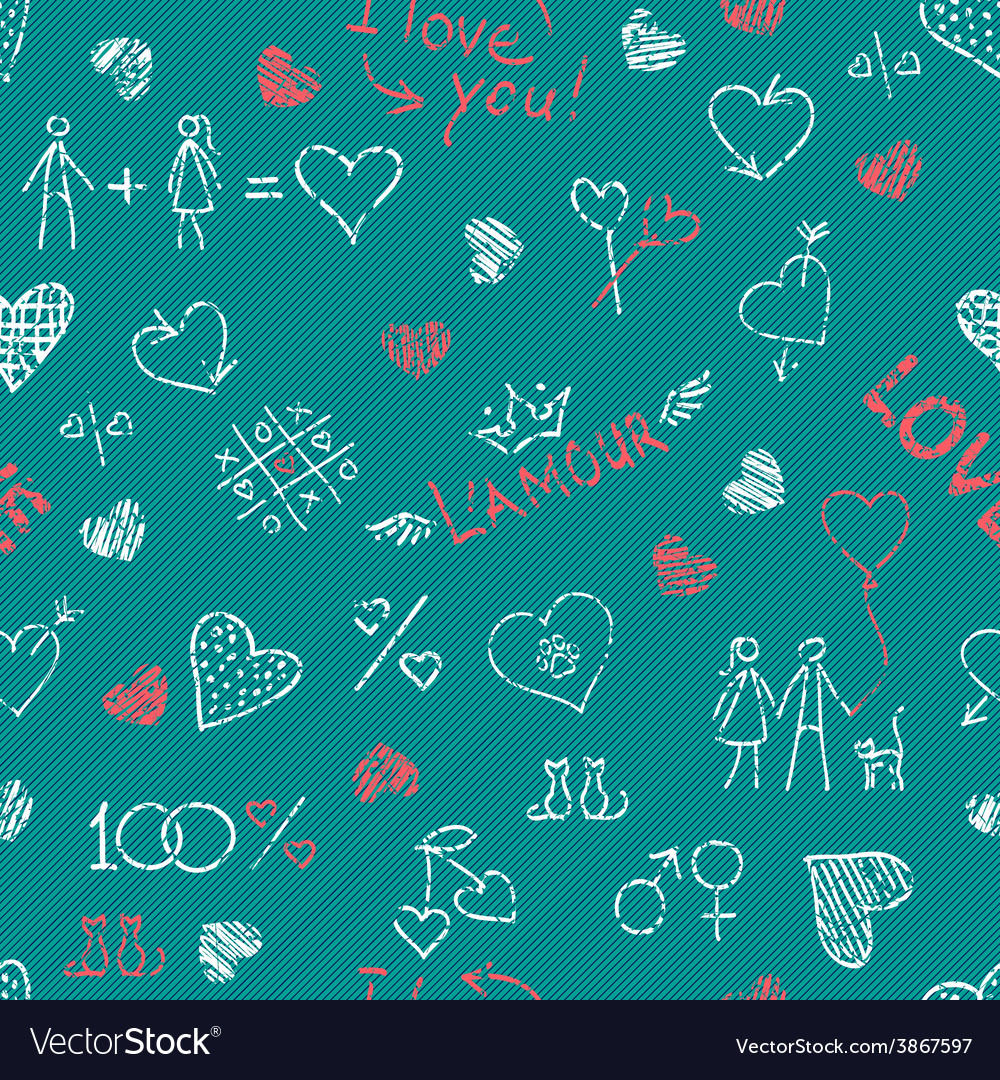Hand drawn seamless pattern vector | Price: 1 Credit (USD $1)