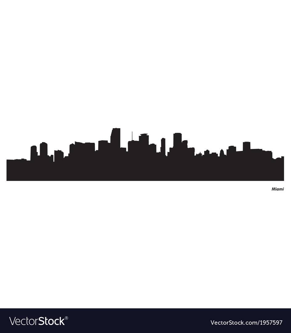 Miami skyline vector | Price: 1 Credit (USD $1)