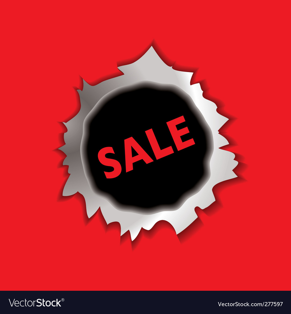 Sale bullet hole vector | Price: 1 Credit (USD $1)