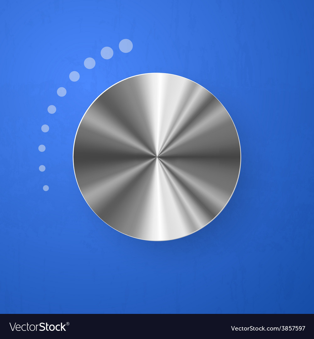 Stainless chrome volume button vector | Price: 1 Credit (USD $1)