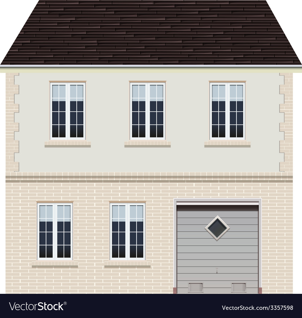 A big house design vector | Price: 1 Credit (USD $1)