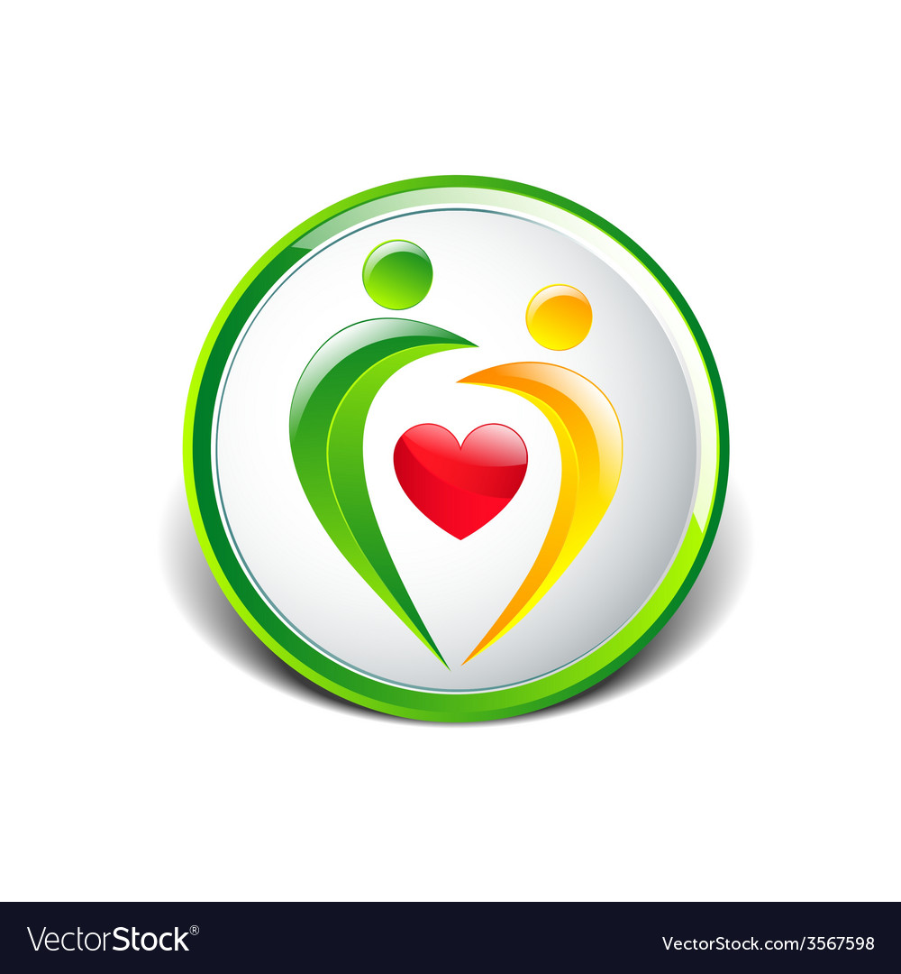 Abstract colorful people and heart icon vector | Price: 1 Credit (USD $1)