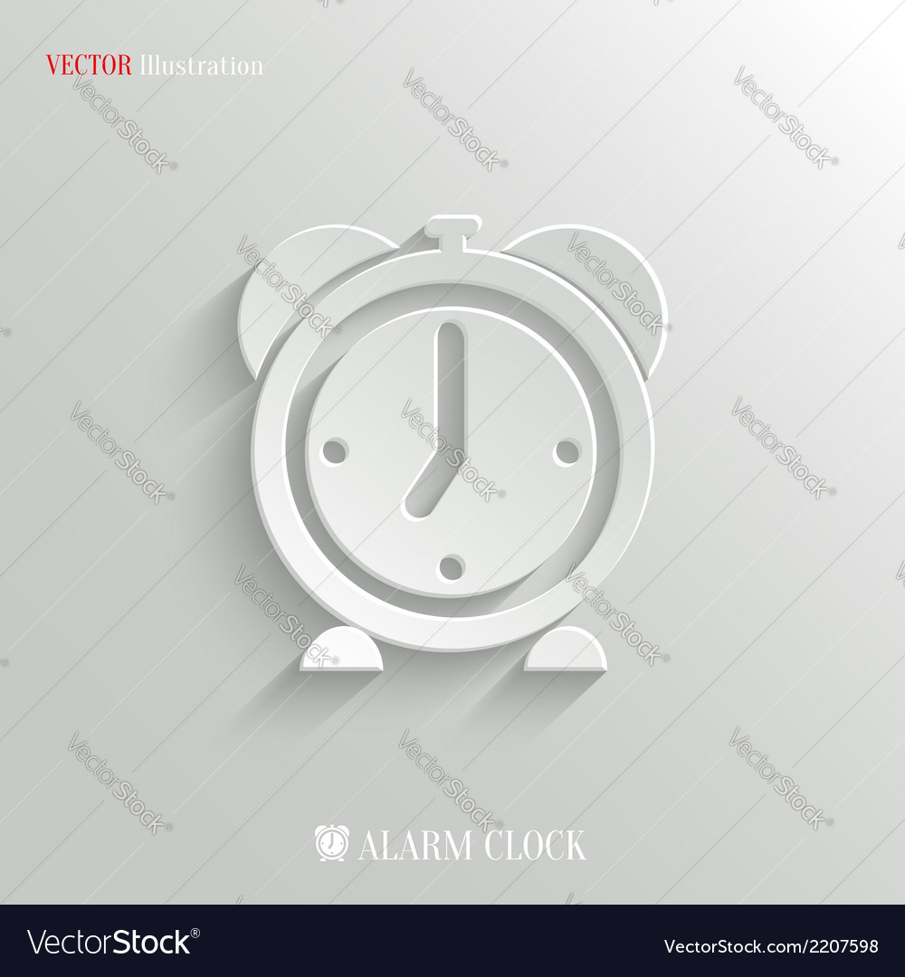 Alarm clock icon - web background vector | Price: 1 Credit (USD $1)