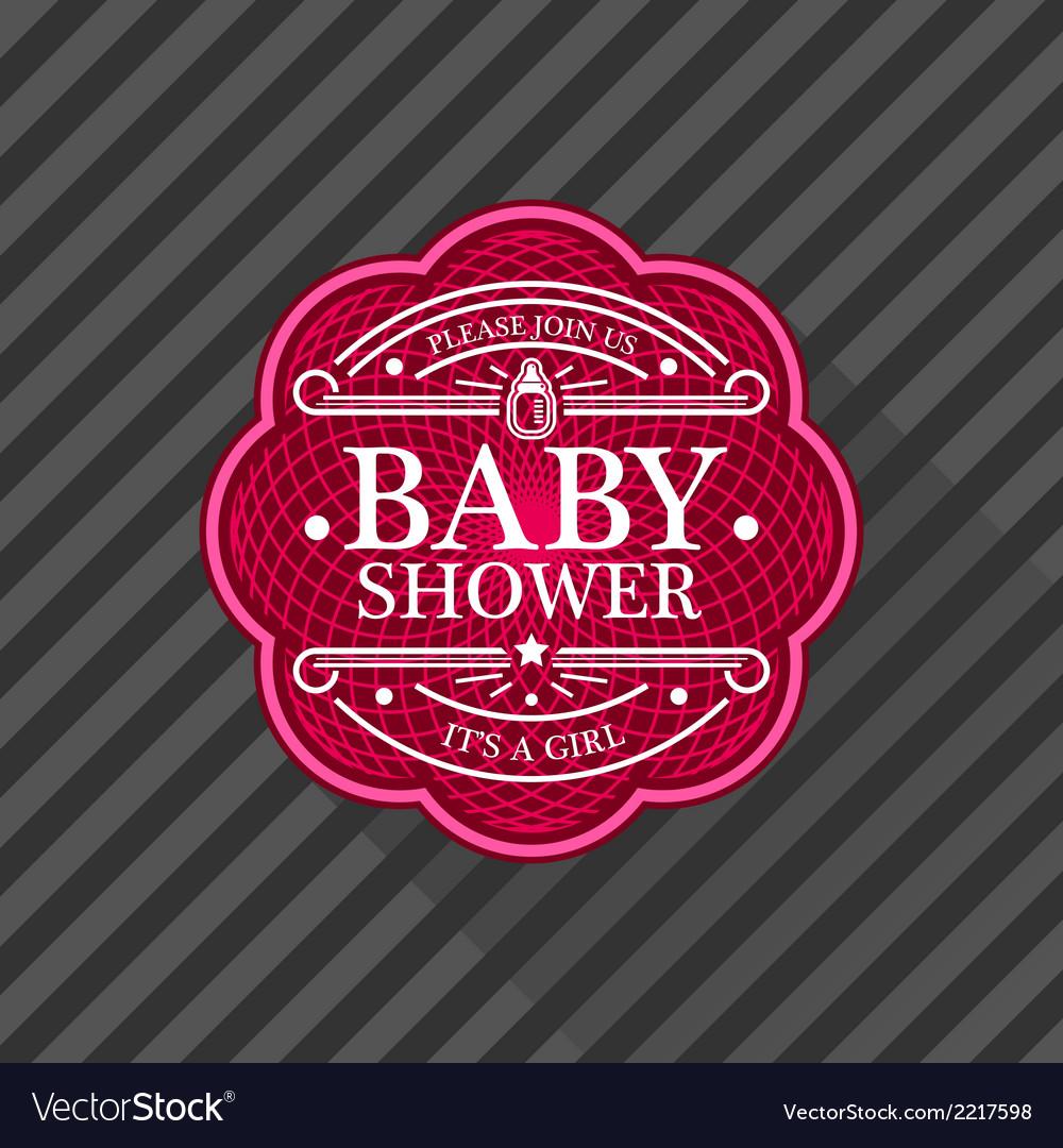 Baby shower emblem vector | Price: 1 Credit (USD $1)