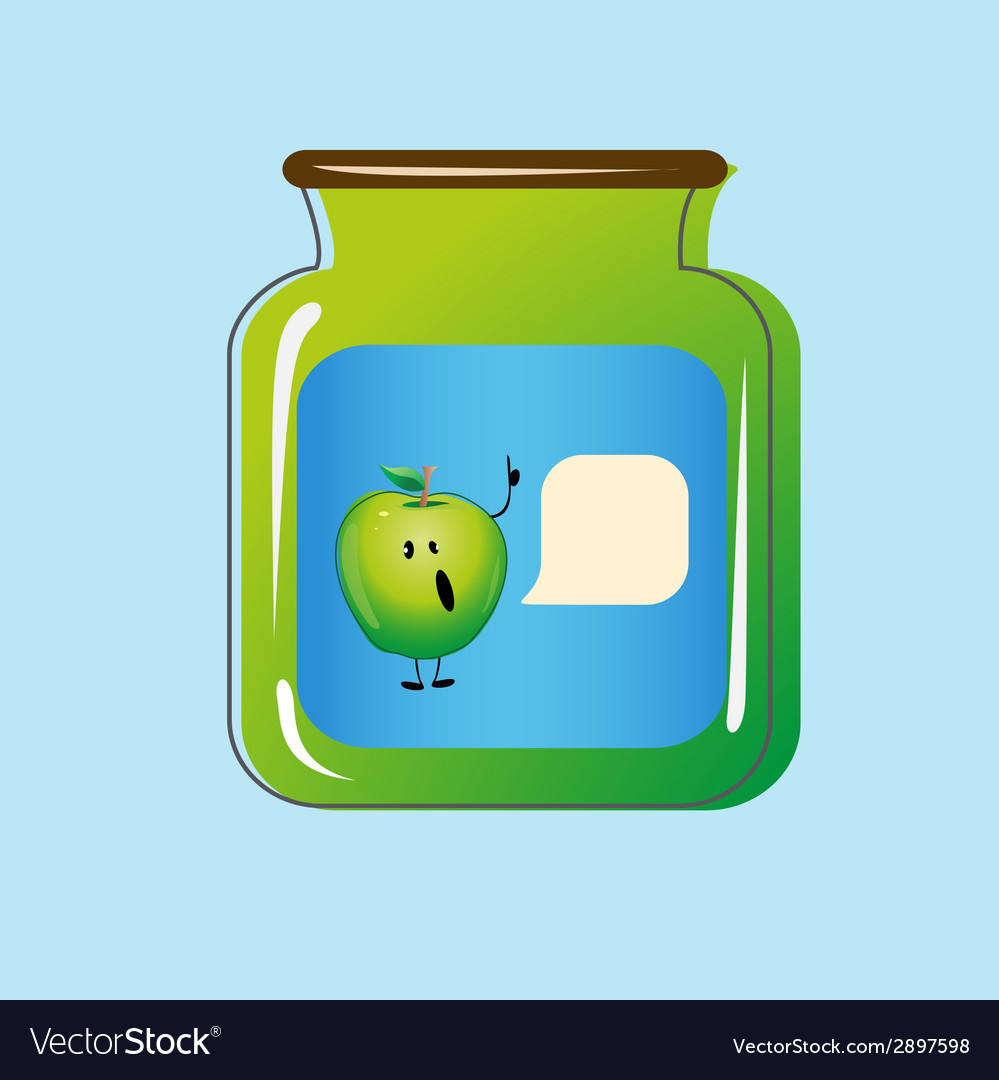 Bank with home canned apples design vector | Price: 1 Credit (USD $1)