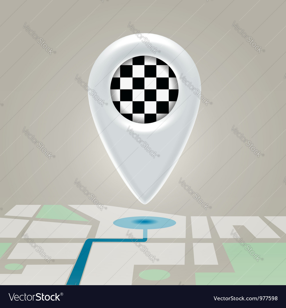 Digital map marchroute finishing point vector | Price: 1 Credit (USD $1)